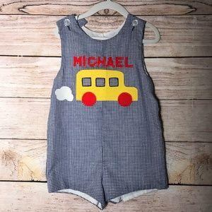 Kelly's Kids School Bus Jon Jon Michael Monogram